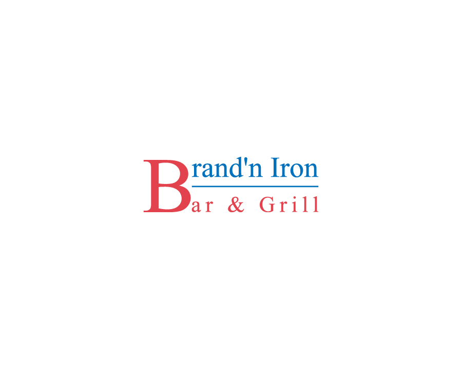 Logo Design by Neon Mirza shakib - Entry No. 8 in the Logo Design Contest Captivating Logo Design for Brand'n Iron Bar & Grill.