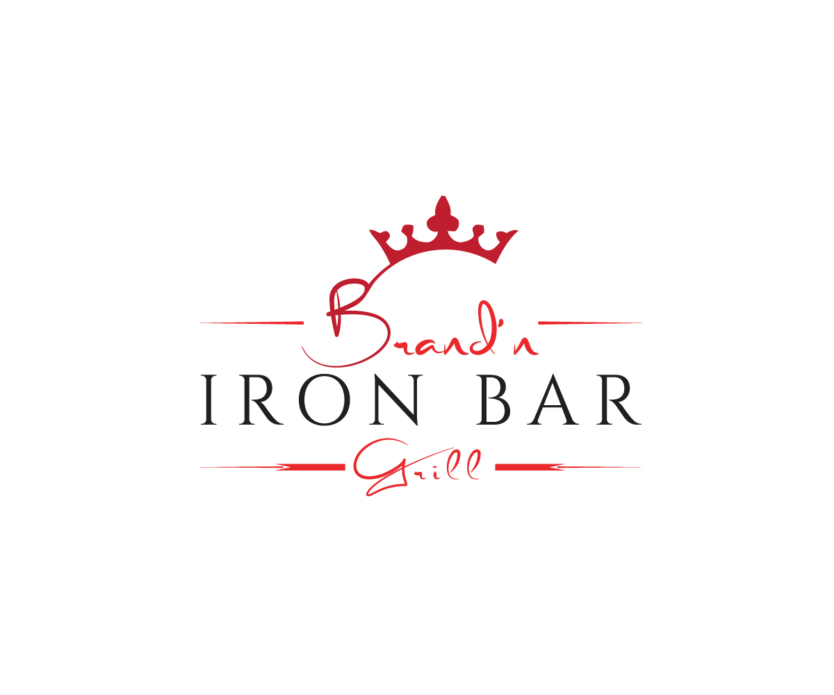 Logo Design by Apple Food - Entry No. 9 in the Logo Design Contest Captivating Logo Design for Brand'n Iron Bar & Grill.