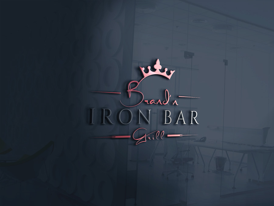 Logo Design by Apple Food - Entry No. 12 in the Logo Design Contest Captivating Logo Design for Brand'n Iron Bar & Grill.