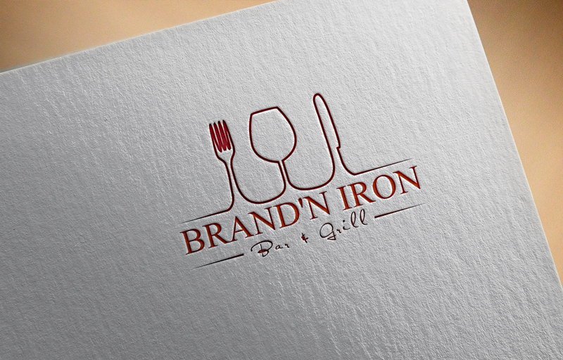 Logo Design by Taher Patwary - Entry No. 13 in the Logo Design Contest Captivating Logo Design for Brand'n Iron Bar & Grill.