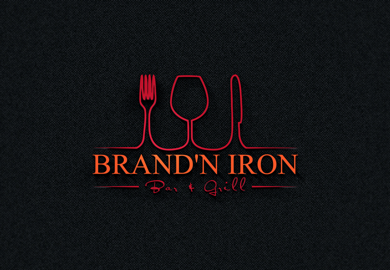 Logo Design by Taher Patwary - Entry No. 14 in the Logo Design Contest Captivating Logo Design for Brand'n Iron Bar & Grill.