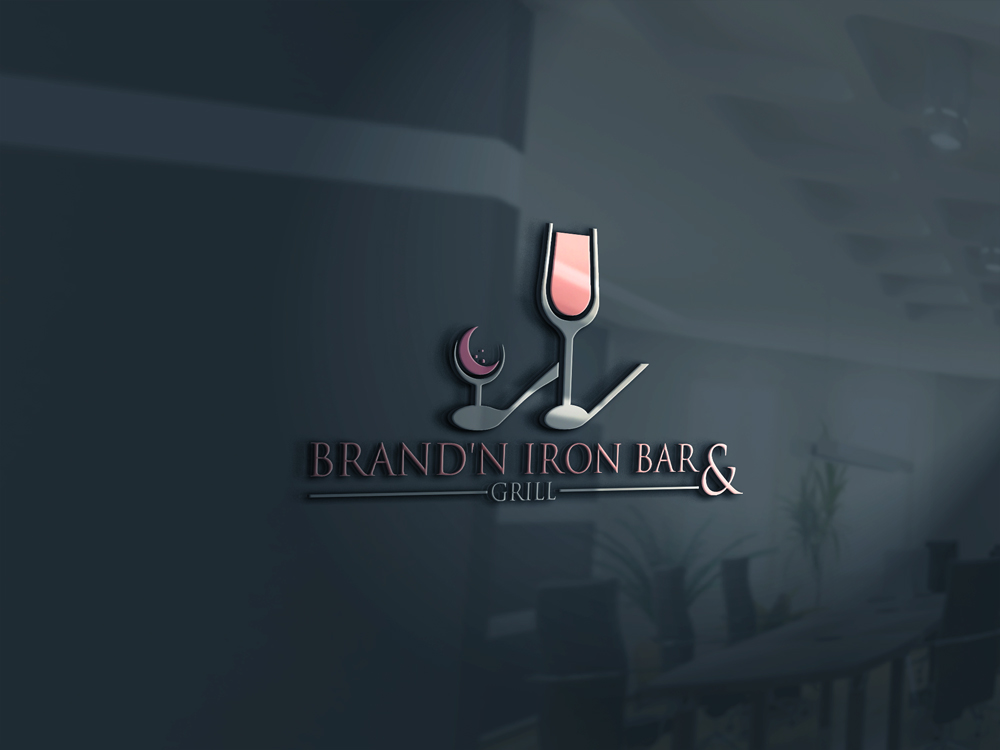 Logo Design by Rased Vai - Entry No. 16 in the Logo Design Contest Captivating Logo Design for Brand'n Iron Bar & Grill.