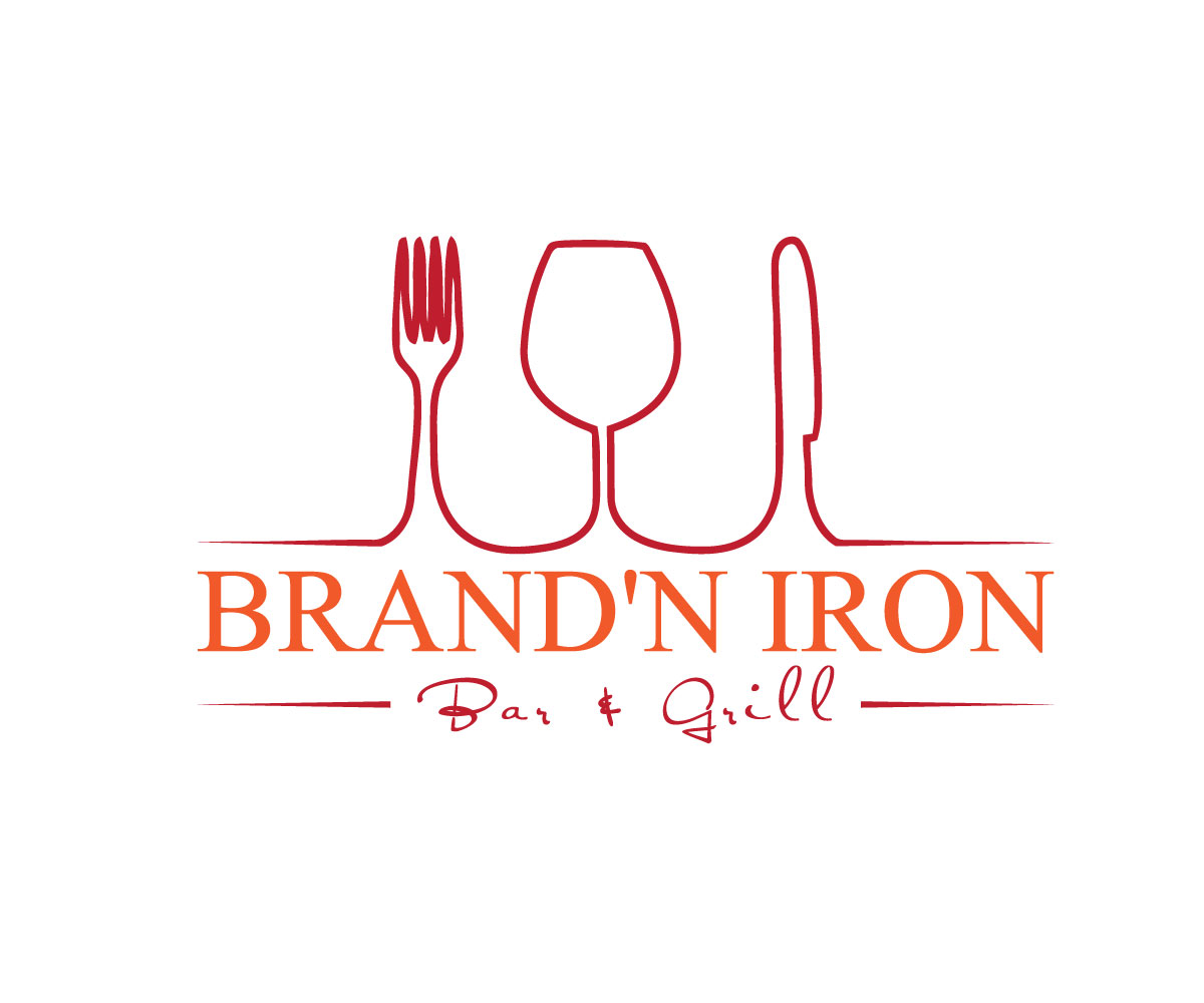 Logo Design by Taher Patwary - Entry No. 17 in the Logo Design Contest Captivating Logo Design for Brand'n Iron Bar & Grill.