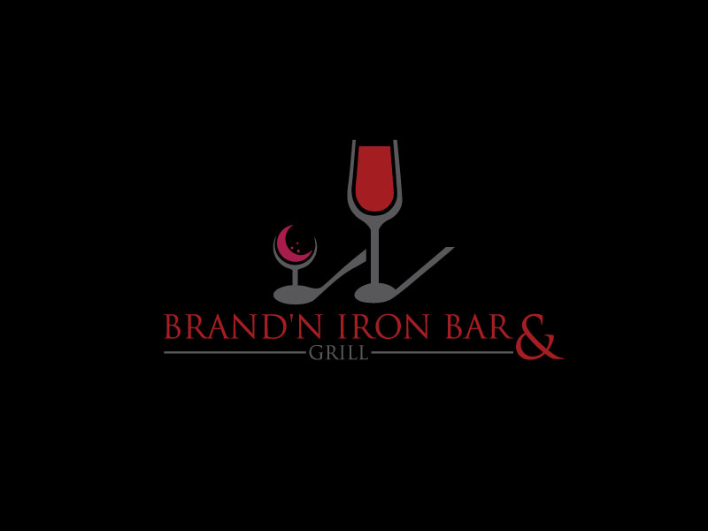 Logo Design by Rased Vai - Entry No. 18 in the Logo Design Contest Captivating Logo Design for Brand'n Iron Bar & Grill.