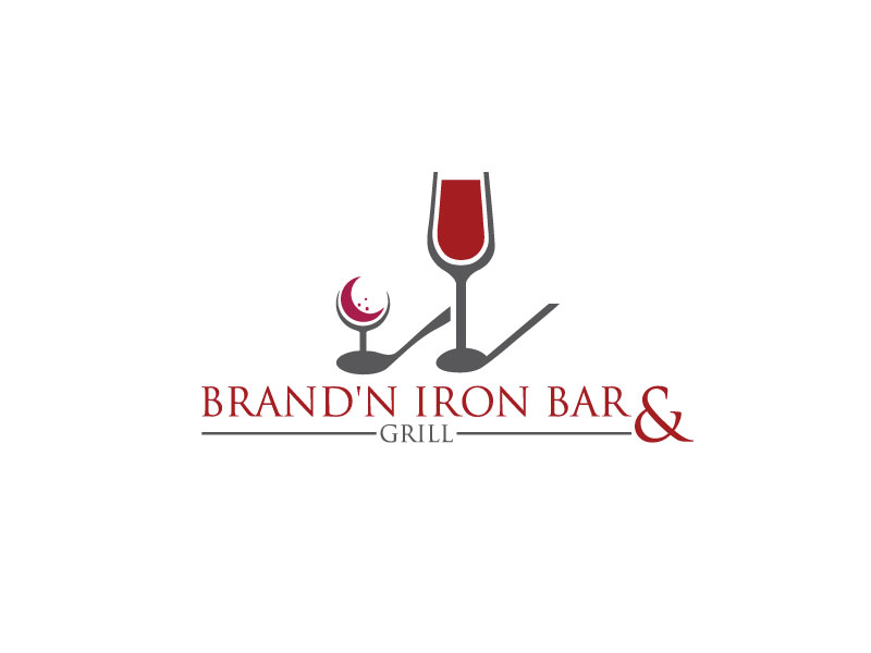 Logo Design by Rased Vai - Entry No. 19 in the Logo Design Contest Captivating Logo Design for Brand'n Iron Bar & Grill.