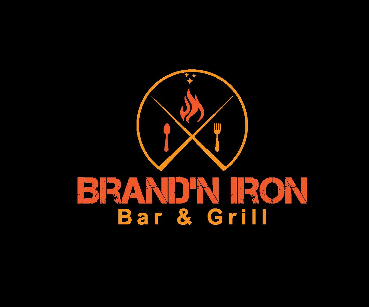 Logo Design by Highexpert Design - Entry No. 22 in the Logo Design Contest Captivating Logo Design for Brand'n Iron Bar & Grill.