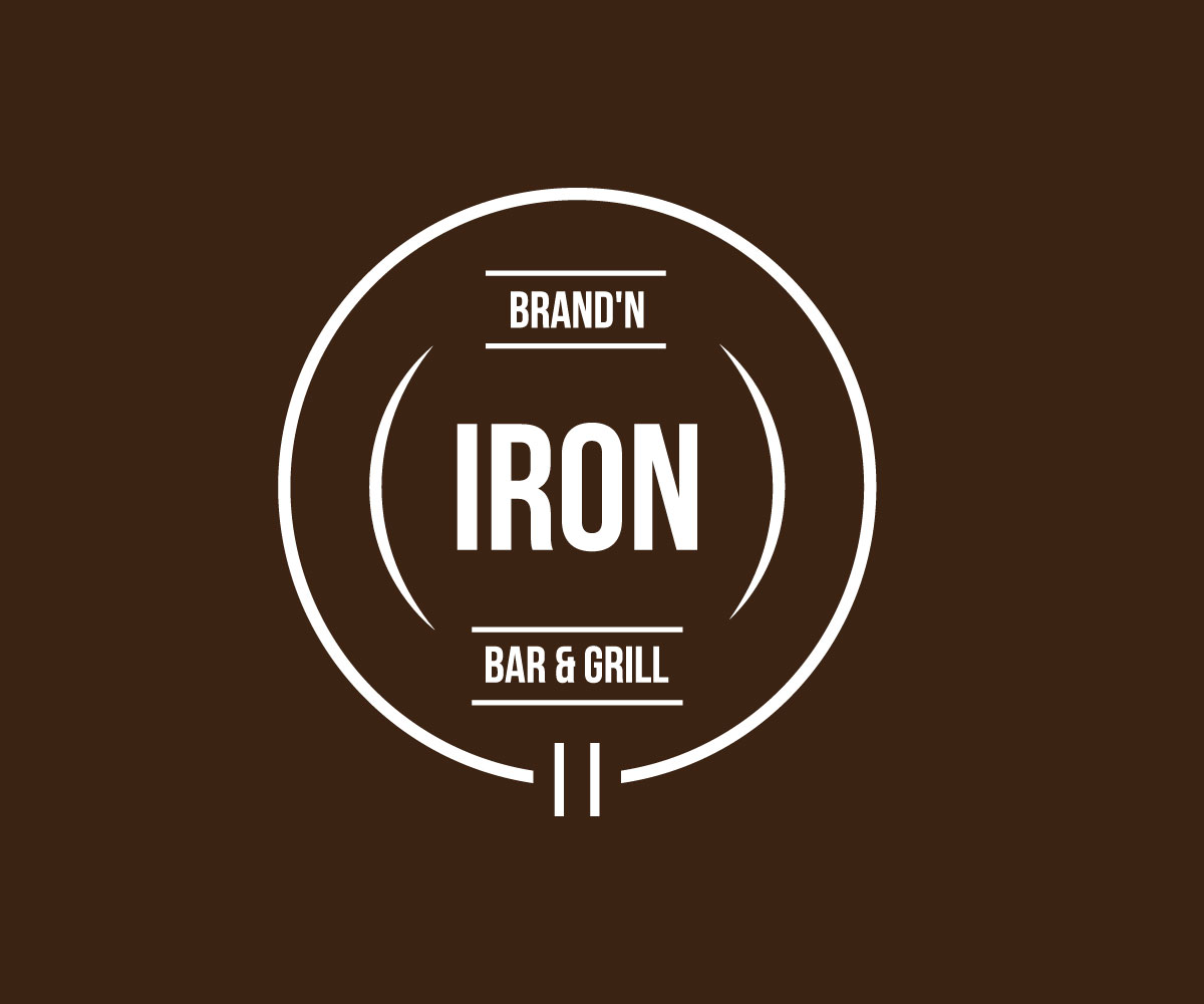 Logo Design by Riday Hassan - Entry No. 27 in the Logo Design Contest Captivating Logo Design for Brand'n Iron Bar & Grill.