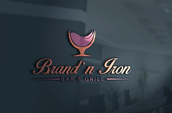 Logo Design by Melton Design - Entry No. 28 in the Logo Design Contest Captivating Logo Design for Brand'n Iron Bar & Grill.