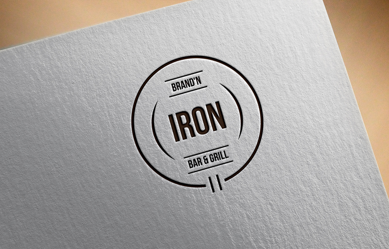 Logo Design by Riday Hassan - Entry No. 29 in the Logo Design Contest Captivating Logo Design for Brand'n Iron Bar & Grill.