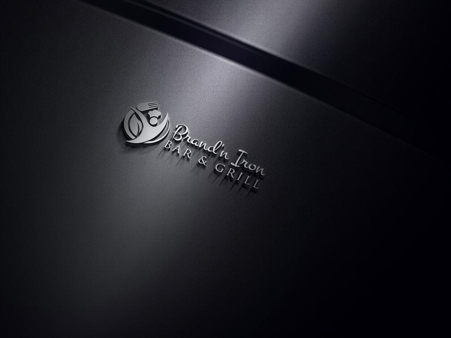 Logo Design by Nur Designer - Entry No. 32 in the Logo Design Contest Captivating Logo Design for Brand'n Iron Bar & Grill.