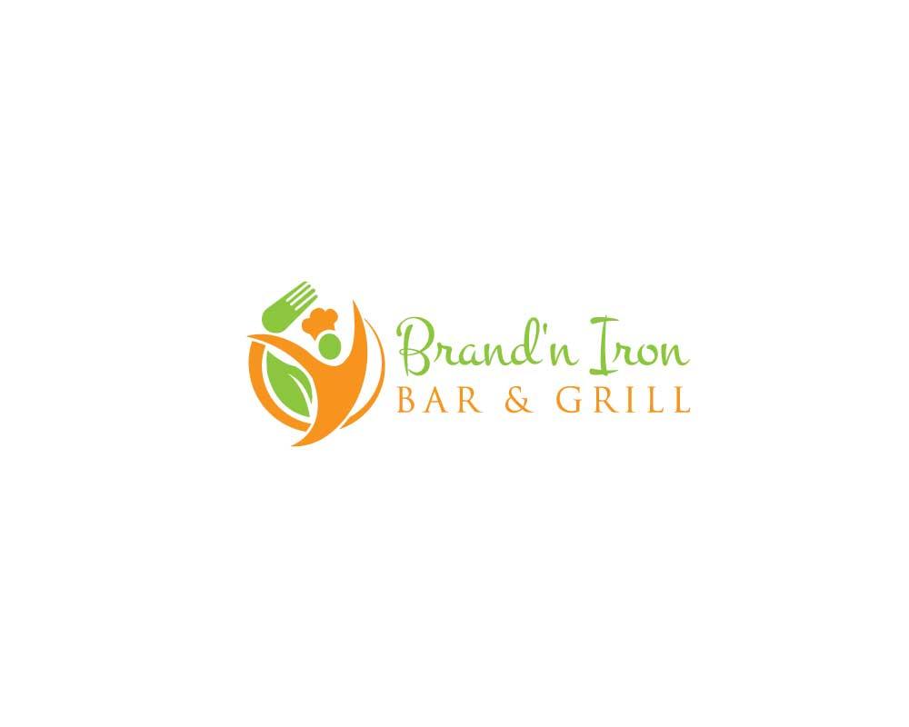 Logo Design by Nur Designer - Entry No. 34 in the Logo Design Contest Captivating Logo Design for Brand'n Iron Bar & Grill.