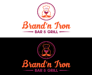 Logo Design by Melton Design - Entry No. 37 in the Logo Design Contest Captivating Logo Design for Brand'n Iron Bar & Grill.