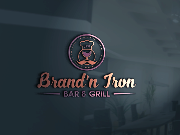 Logo Design by Melton Design - Entry No. 38 in the Logo Design Contest Captivating Logo Design for Brand'n Iron Bar & Grill.