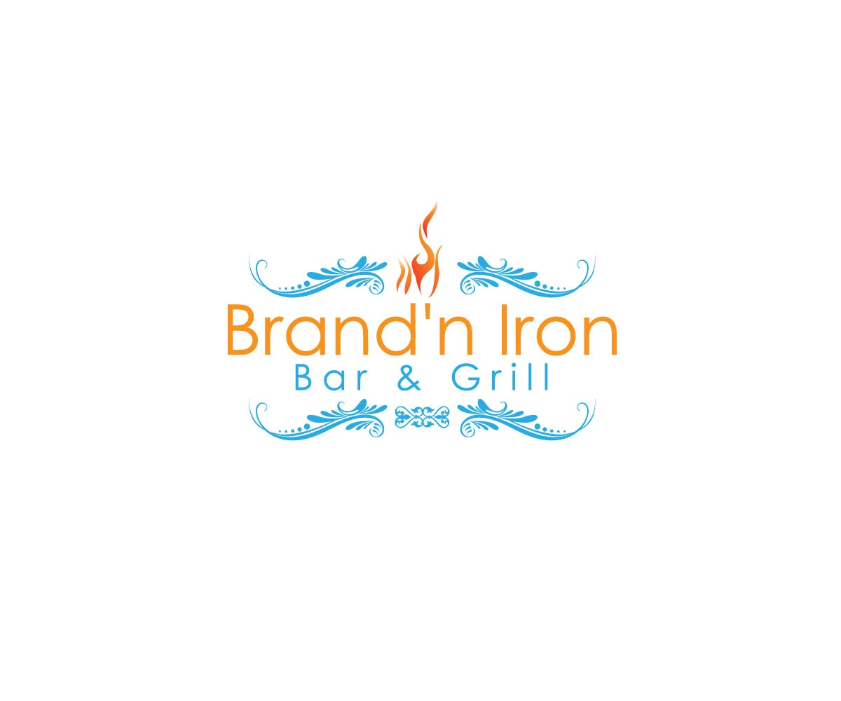 Logo Design by Abdur Rahman - Entry No. 41 in the Logo Design Contest Captivating Logo Design for Brand'n Iron Bar & Grill.