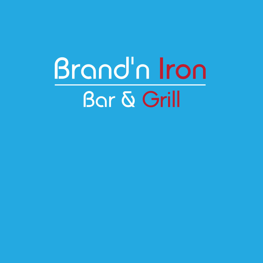 Logo Design by Ismail Hossain - Entry No. 45 in the Logo Design Contest Captivating Logo Design for Brand'n Iron Bar & Grill.