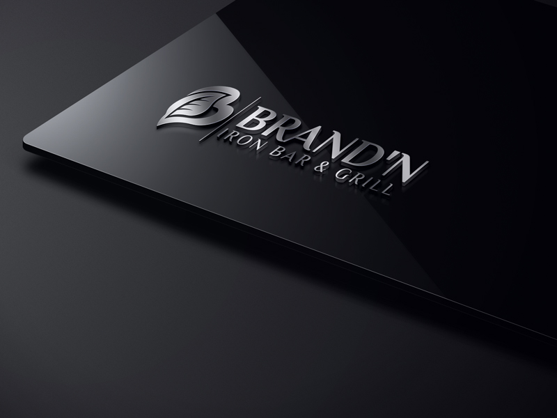 Logo Design by One Touch - Entry No. 48 in the Logo Design Contest Captivating Logo Design for Brand'n Iron Bar & Grill.
