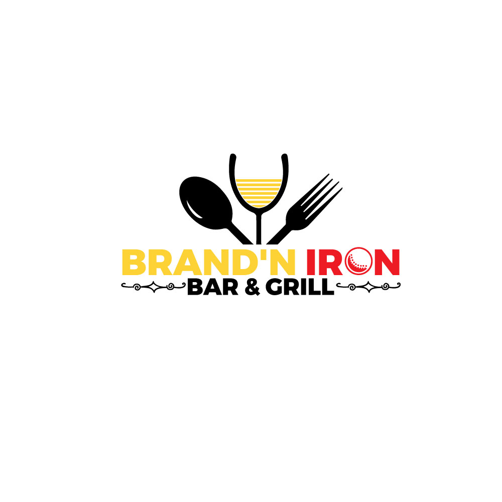 Logo Design by Easrat Jahan - Entry No. 54 in the Logo Design Contest Captivating Logo Design for Brand'n Iron Bar & Grill.