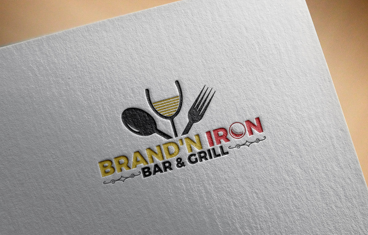 Logo Design by Easrat Jahan - Entry No. 55 in the Logo Design Contest Captivating Logo Design for Brand'n Iron Bar & Grill.