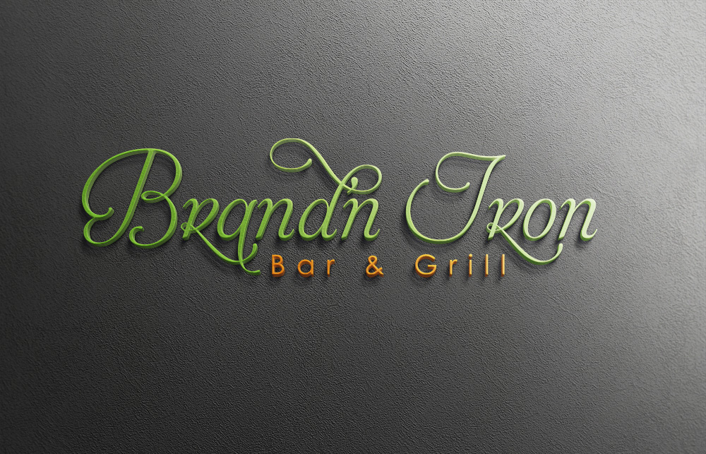 Logo Design by Mariam Mou - Entry No. 60 in the Logo Design Contest Captivating Logo Design for Brand'n Iron Bar & Grill.