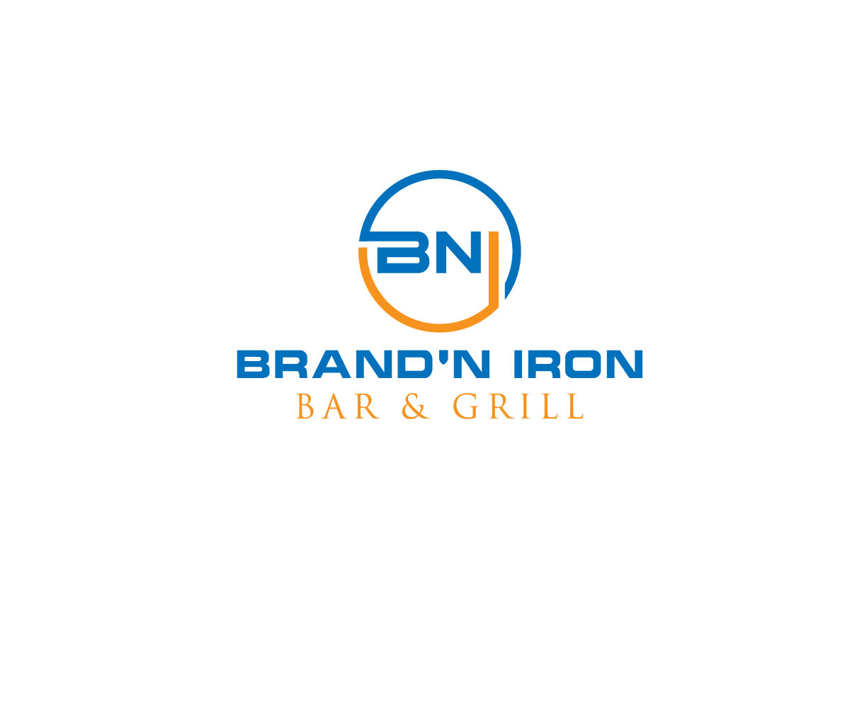 Logo Design by Kamal Hossain - Entry No. 74 in the Logo Design Contest Captivating Logo Design for Brand'n Iron Bar & Grill.