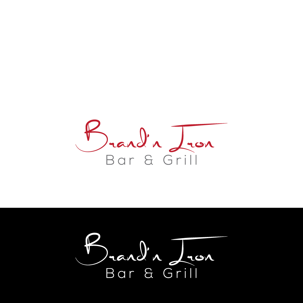 Logo Design by Magic Tools - Entry No. 76 in the Logo Design Contest Captivating Logo Design for Brand'n Iron Bar & Grill.