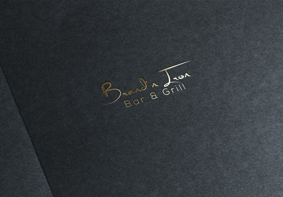 Logo Design by Magic Tools - Entry No. 77 in the Logo Design Contest Captivating Logo Design for Brand'n Iron Bar & Grill.
