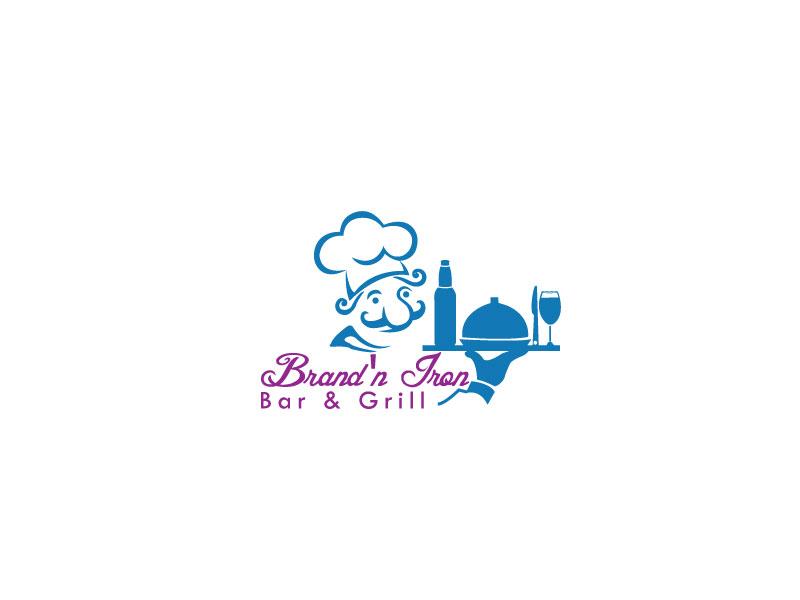 Logo Design by Sohel Sorkar - Entry No. 78 in the Logo Design Contest Captivating Logo Design for Brand'n Iron Bar & Grill.