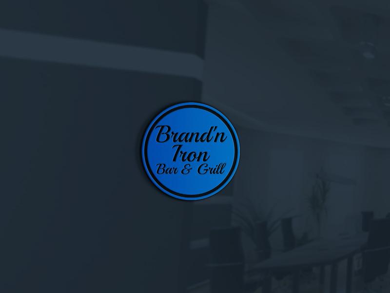 Logo Design by Shahporan Hossain - Entry No. 79 in the Logo Design Contest Captivating Logo Design for Brand'n Iron Bar & Grill.