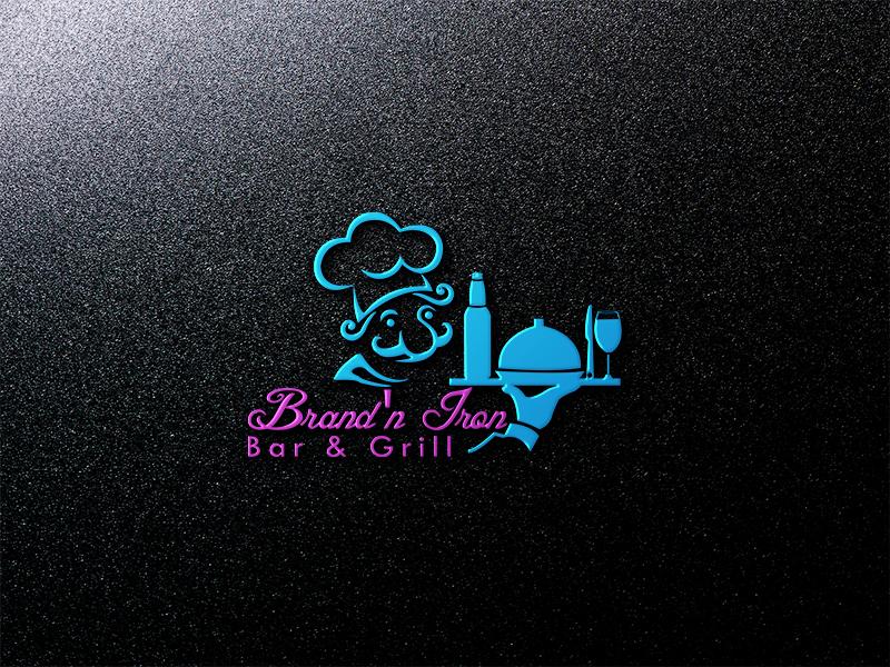 Logo Design by Sohel Sorkar - Entry No. 85 in the Logo Design Contest Captivating Logo Design for Brand'n Iron Bar & Grill.