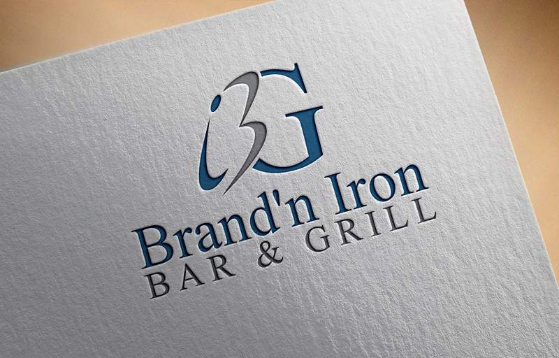 Logo Design by Salah Uddin - Entry No. 87 in the Logo Design Contest Captivating Logo Design for Brand'n Iron Bar & Grill.