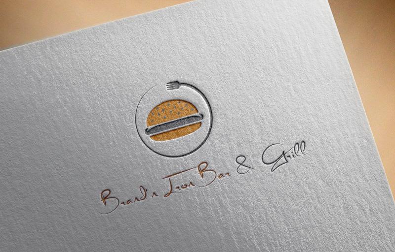Logo Design by MAlamgir Hossain - Entry No. 88 in the Logo Design Contest Captivating Logo Design for Brand'n Iron Bar & Grill.