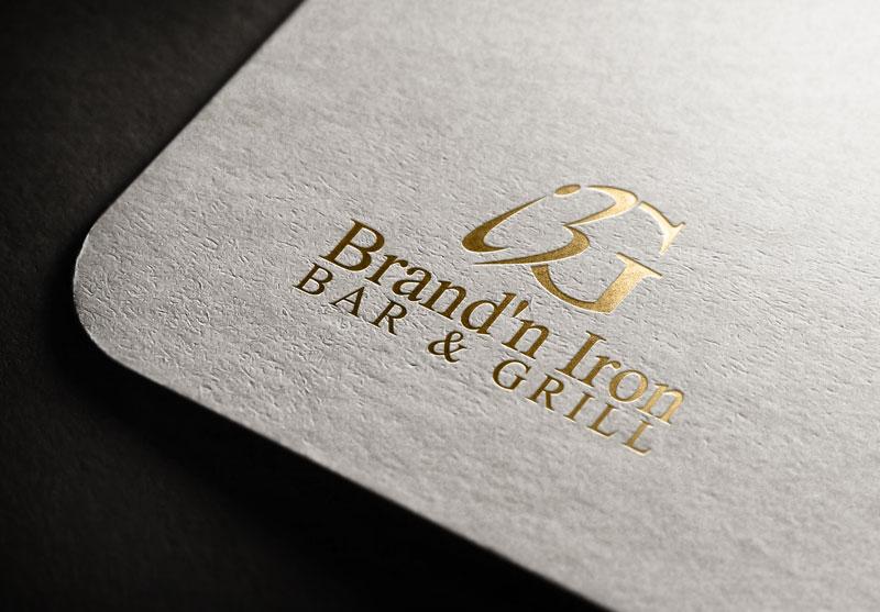 Logo Design by Salah Uddin - Entry No. 89 in the Logo Design Contest Captivating Logo Design for Brand'n Iron Bar & Grill.