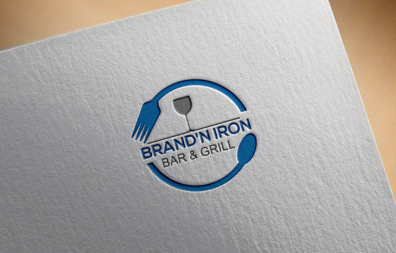 Logo Design by ARMAN HOSSAIN - Entry No. 95 in the Logo Design Contest Captivating Logo Design for Brand'n Iron Bar & Grill.