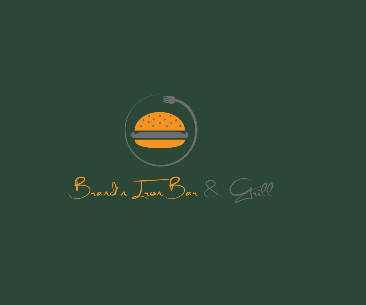 Logo Design by MAlamgir Hossain - Entry No. 97 in the Logo Design Contest Captivating Logo Design for Brand'n Iron Bar & Grill.