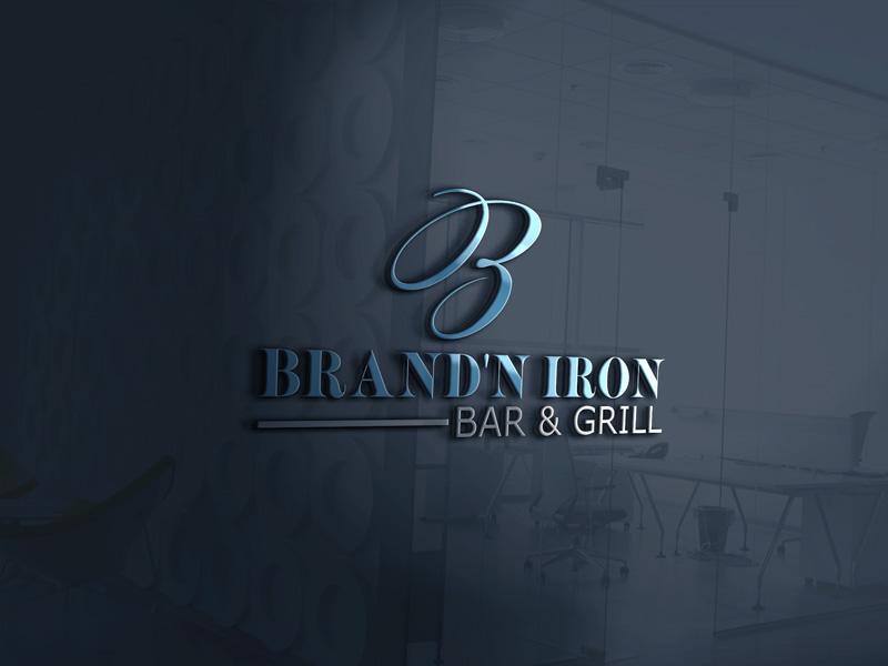 Logo Design by Sinthiya Omar - Entry No. 98 in the Logo Design Contest Captivating Logo Design for Brand'n Iron Bar & Grill.