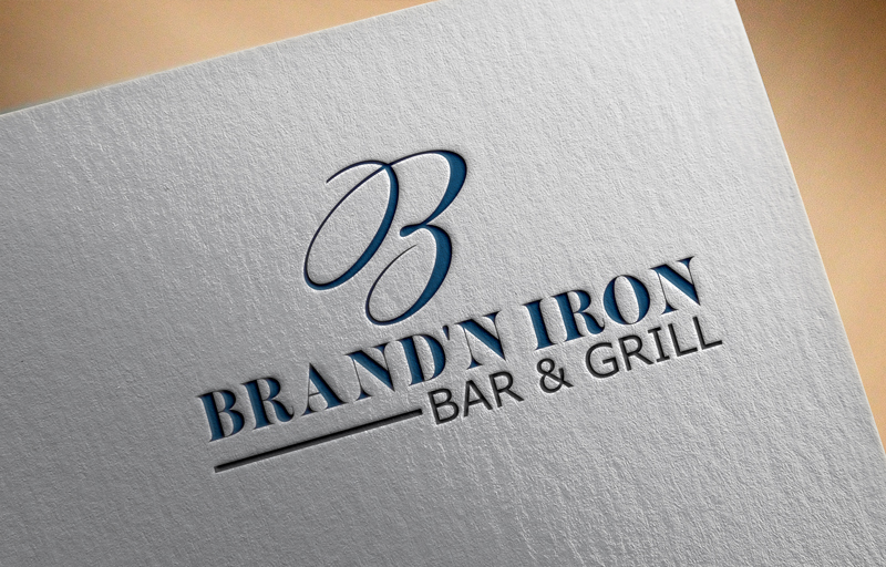 Logo Design by Sinthiya Omar - Entry No. 99 in the Logo Design Contest Captivating Logo Design for Brand'n Iron Bar & Grill.