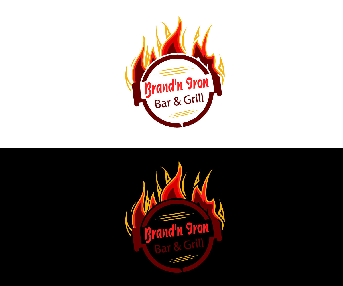 Logo Design by Tanisha Afroz - Entry No. 101 in the Logo Design Contest Captivating Logo Design for Brand'n Iron Bar & Grill.