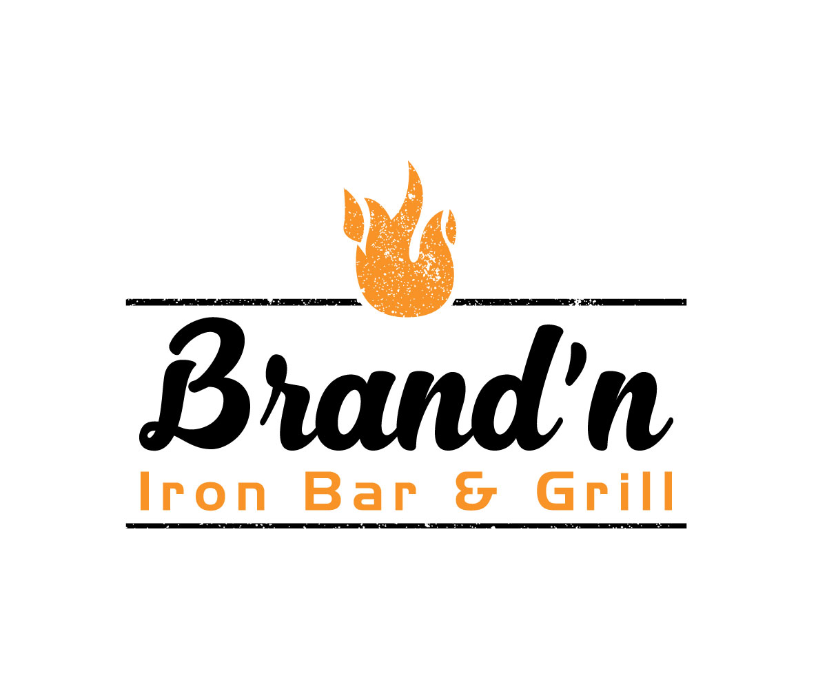 Logo Design by Md nayeem Khan - Entry No. 102 in the Logo Design Contest Captivating Logo Design for Brand'n Iron Bar & Grill.