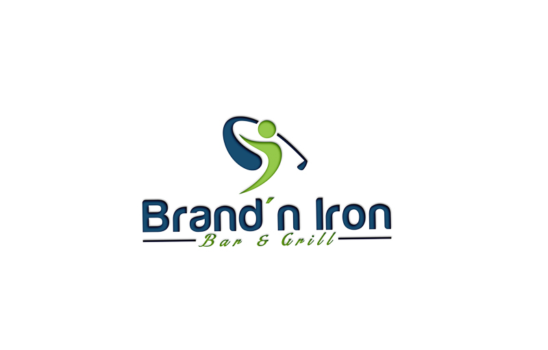 Logo Design by Ahmed Murad - Entry No. 104 in the Logo Design Contest Captivating Logo Design for Brand'n Iron Bar & Grill.