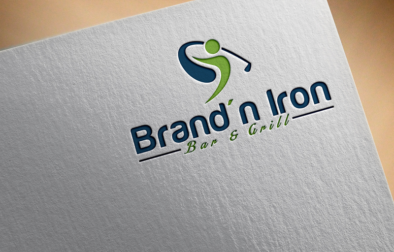 Logo Design by Ahmed Murad - Entry No. 105 in the Logo Design Contest Captivating Logo Design for Brand'n Iron Bar & Grill.