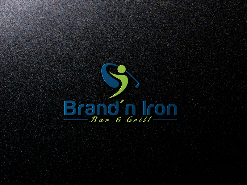 Logo Design by Ahmed Murad - Entry No. 106 in the Logo Design Contest Captivating Logo Design for Brand'n Iron Bar & Grill.