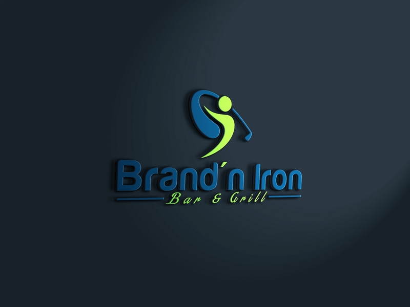 Logo Design by Ahmed Murad - Entry No. 107 in the Logo Design Contest Captivating Logo Design for Brand'n Iron Bar & Grill.