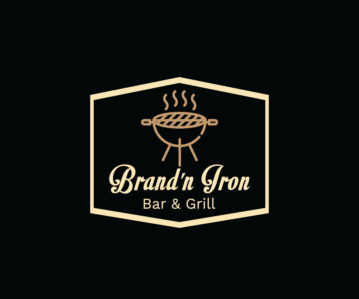 Logo Design by Tuhin Mazumder - Entry No. 113 in the Logo Design Contest Captivating Logo Design for Brand'n Iron Bar & Grill.