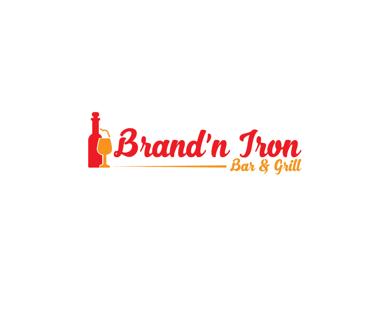 Logo Design by Mamun Hossain - Entry No. 114 in the Logo Design Contest Captivating Logo Design for Brand'n Iron Bar & Grill.