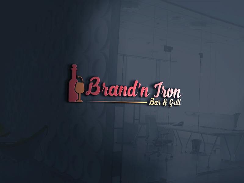 Logo Design by Mamun Hossain - Entry No. 116 in the Logo Design Contest Captivating Logo Design for Brand'n Iron Bar & Grill.