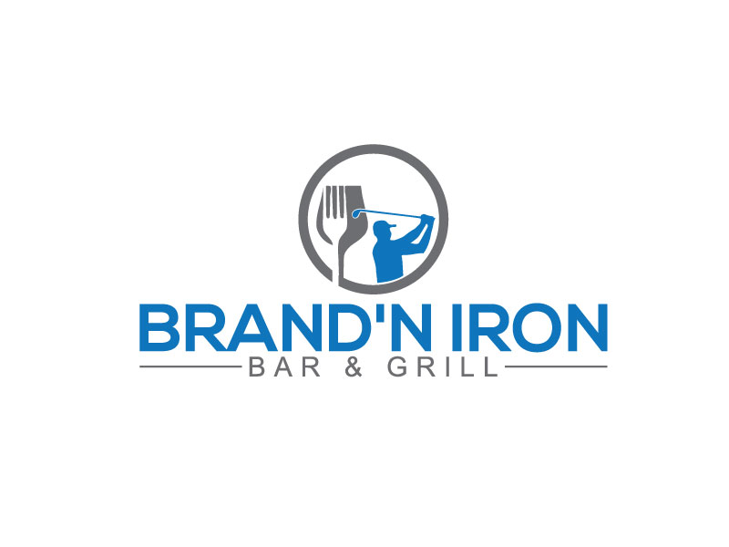 Logo Design by Bahar Hossain - Entry No. 117 in the Logo Design Contest Captivating Logo Design for Brand'n Iron Bar & Grill.