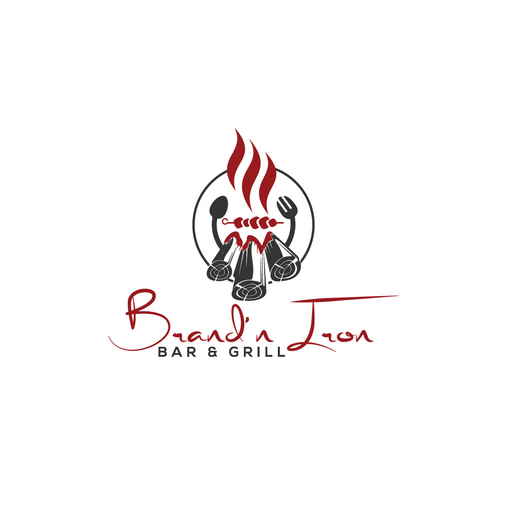Logo Design by Abu Backar - Entry No. 125 in the Logo Design Contest Captivating Logo Design for Brand'n Iron Bar & Grill.