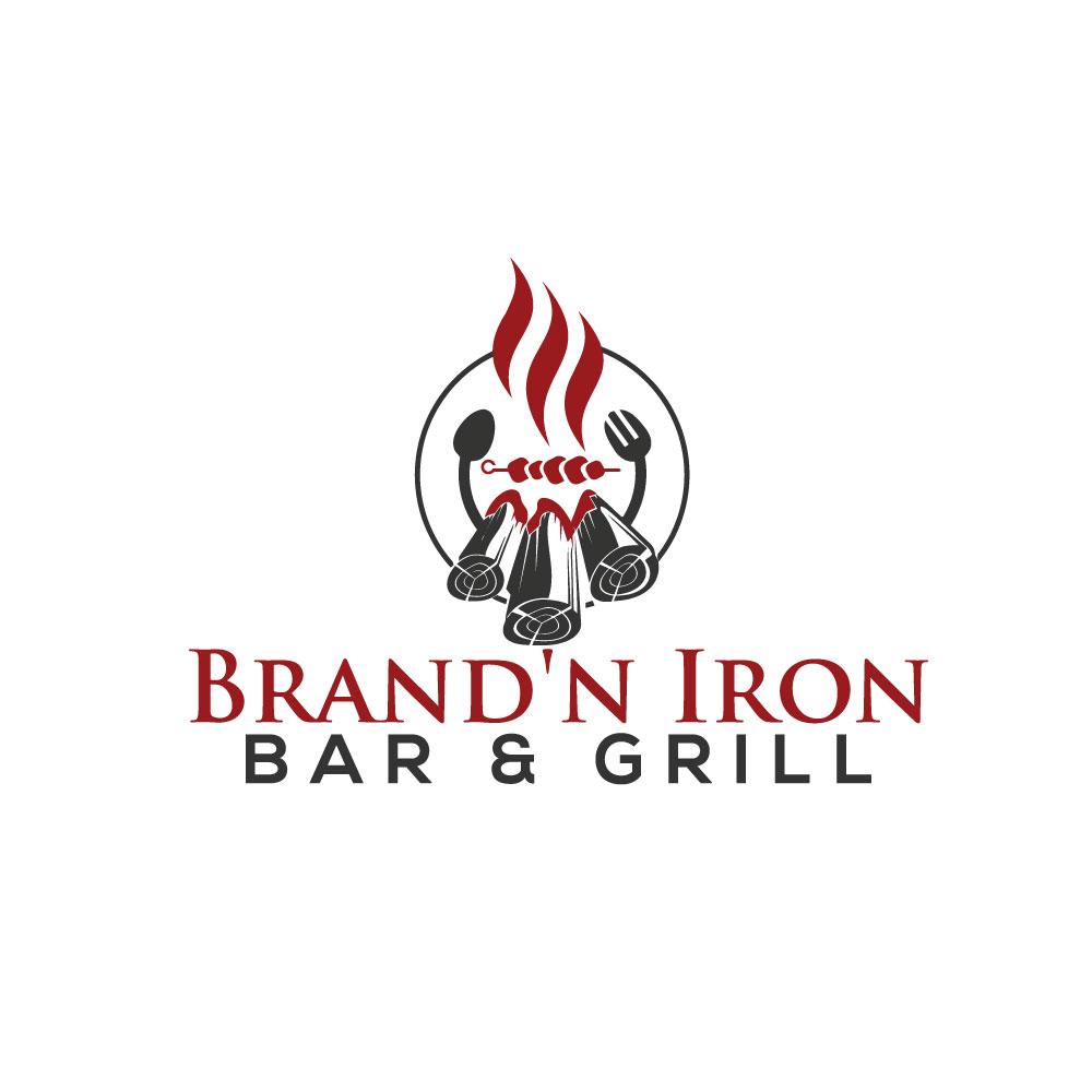 Logo Design by Abu Backar - Entry No. 126 in the Logo Design Contest Captivating Logo Design for Brand'n Iron Bar & Grill.