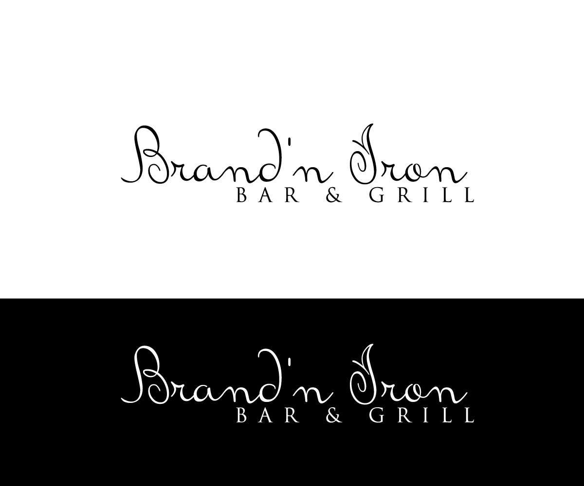 Logo Design by Shathi Islam - Entry No. 130 in the Logo Design Contest Captivating Logo Design for Brand'n Iron Bar & Grill.
