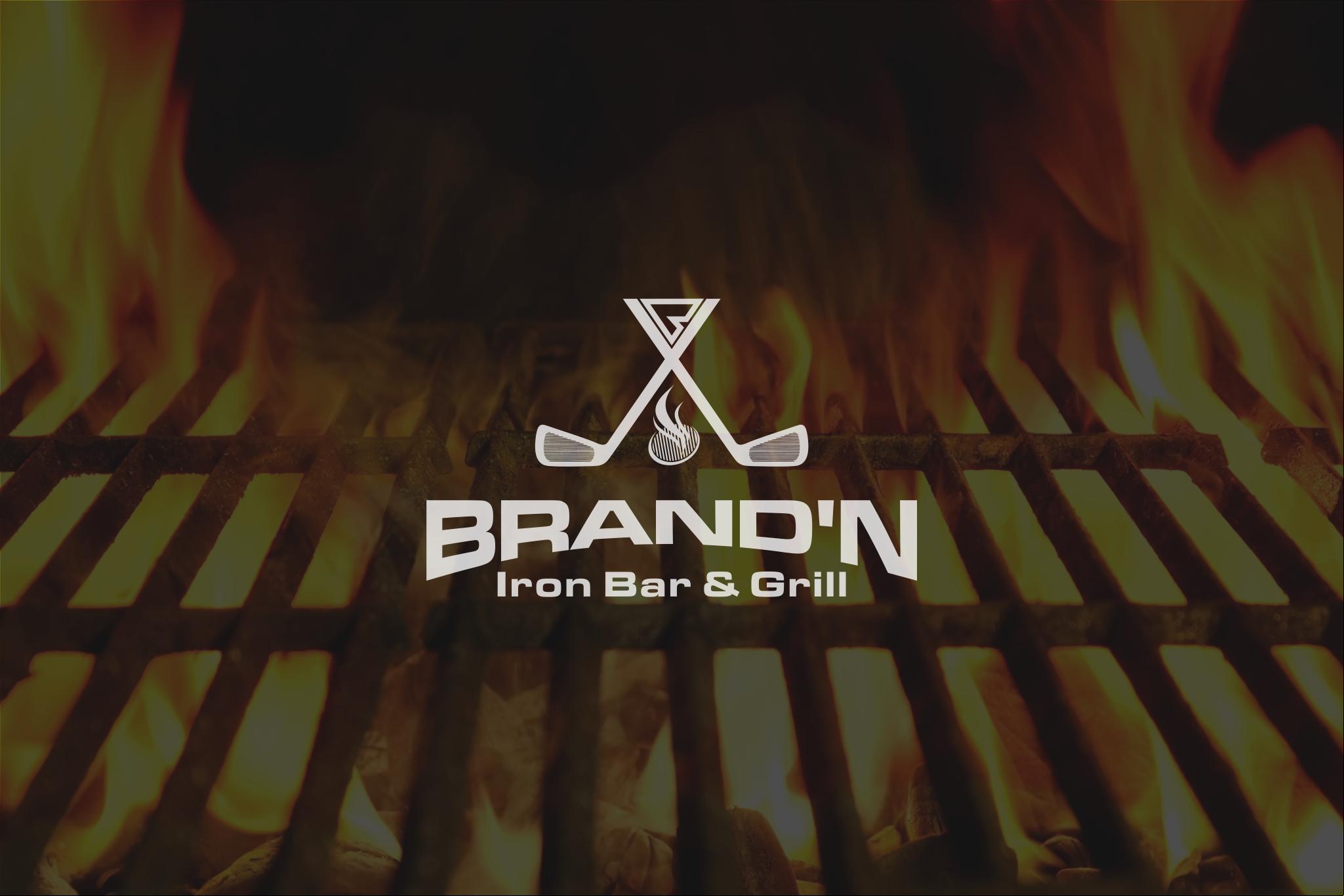 Logo Design by Raymond Garcia - Entry No. 133 in the Logo Design Contest Captivating Logo Design for Brand'n Iron Bar & Grill.